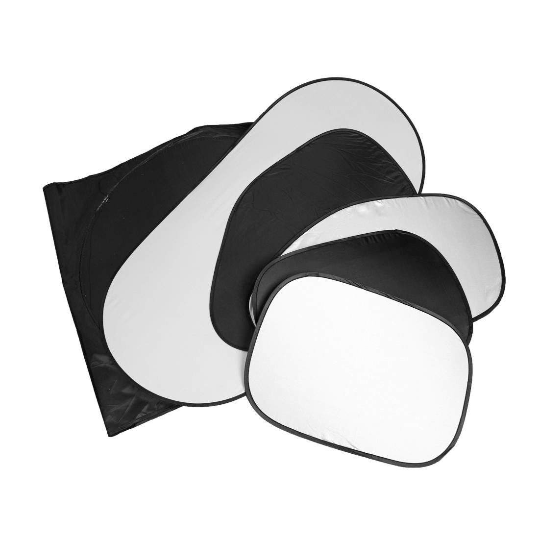 6 in 1 Silver Tone Black Windshield Window Sun Shield Sunshield for Car