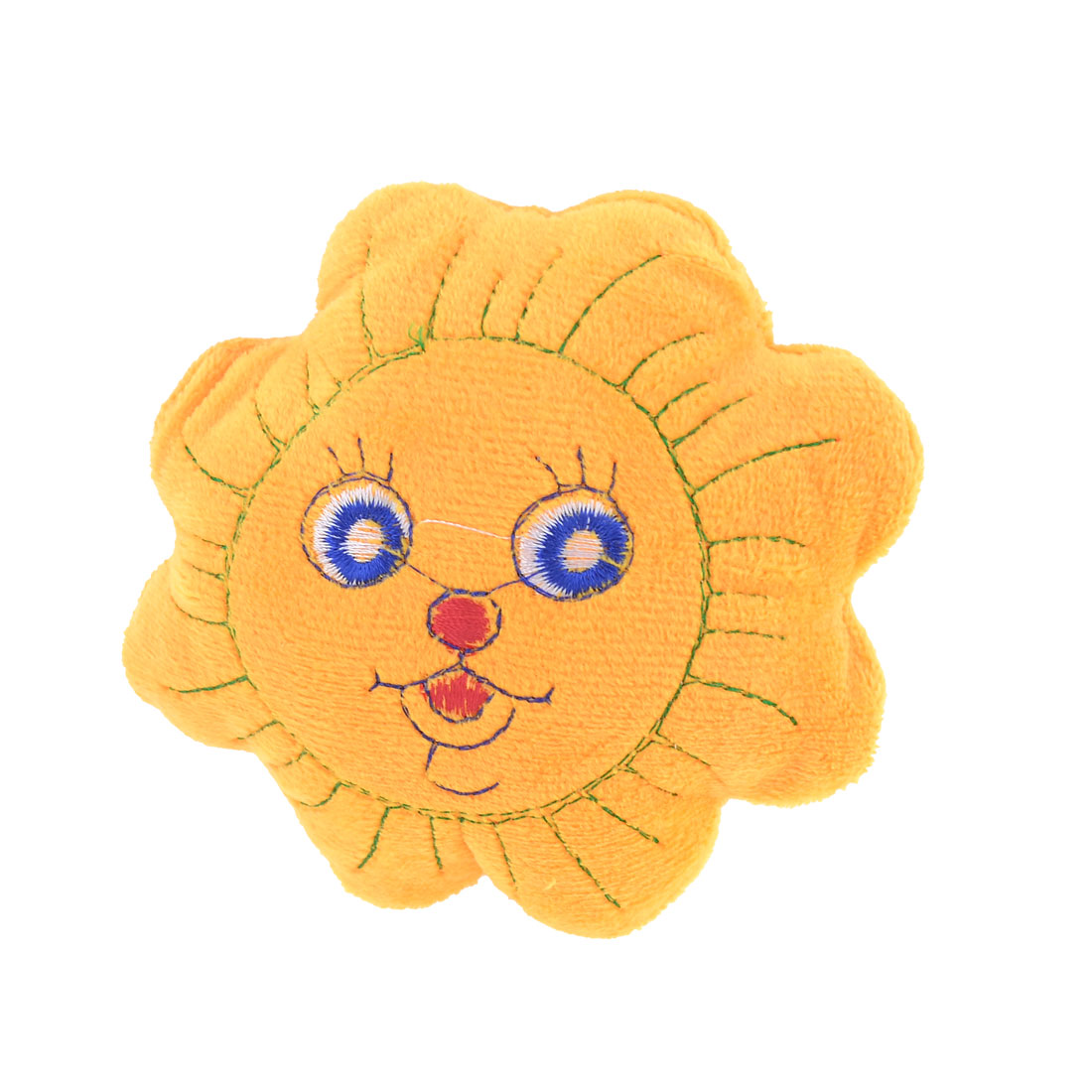 Yellow Plush Sunflower Style Squeaky Pet Dog Puppy Playing Toy