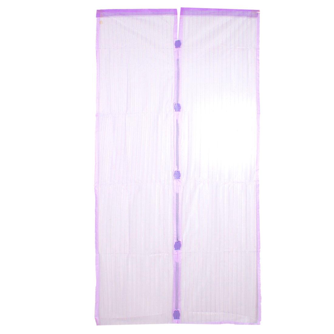 210cm x 86cm Purple Magnetic Buckle Anti Mosquitoes Door Curtain
