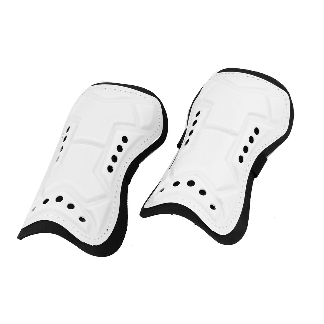 Man Skating Foam Interior Calf Protector Shin Support White Black 2pcs