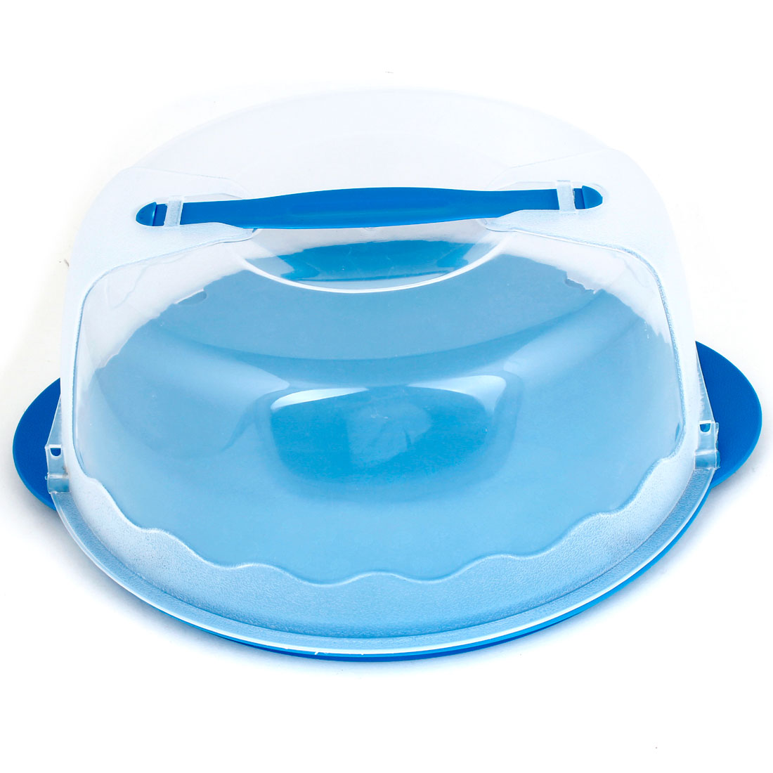 Home Family Blue Clear Plastic Cake Box Case Contaniner