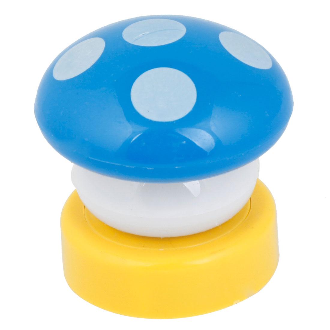 Blue Plastic Casing Mushroom Design White LED Bulb Nightlight