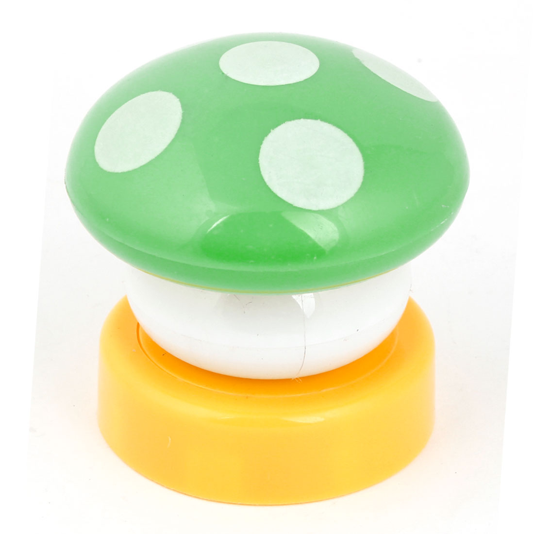 Battery Powered Green Mushroome Shaped White LED Night Light