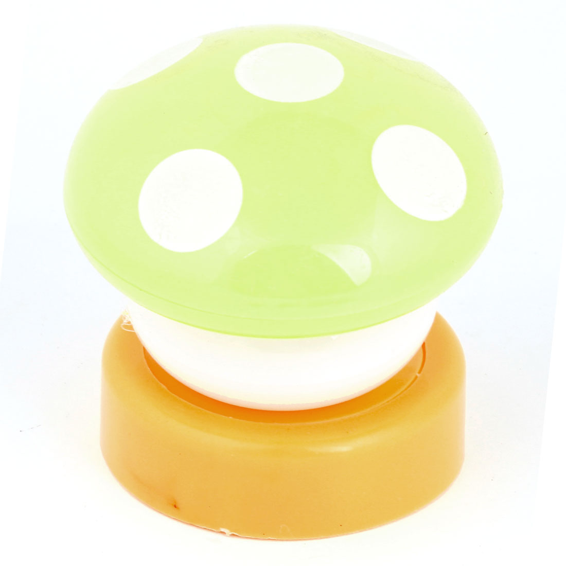Yellow Plastic Casing Mushroom Design White LED Bulb Nightlight