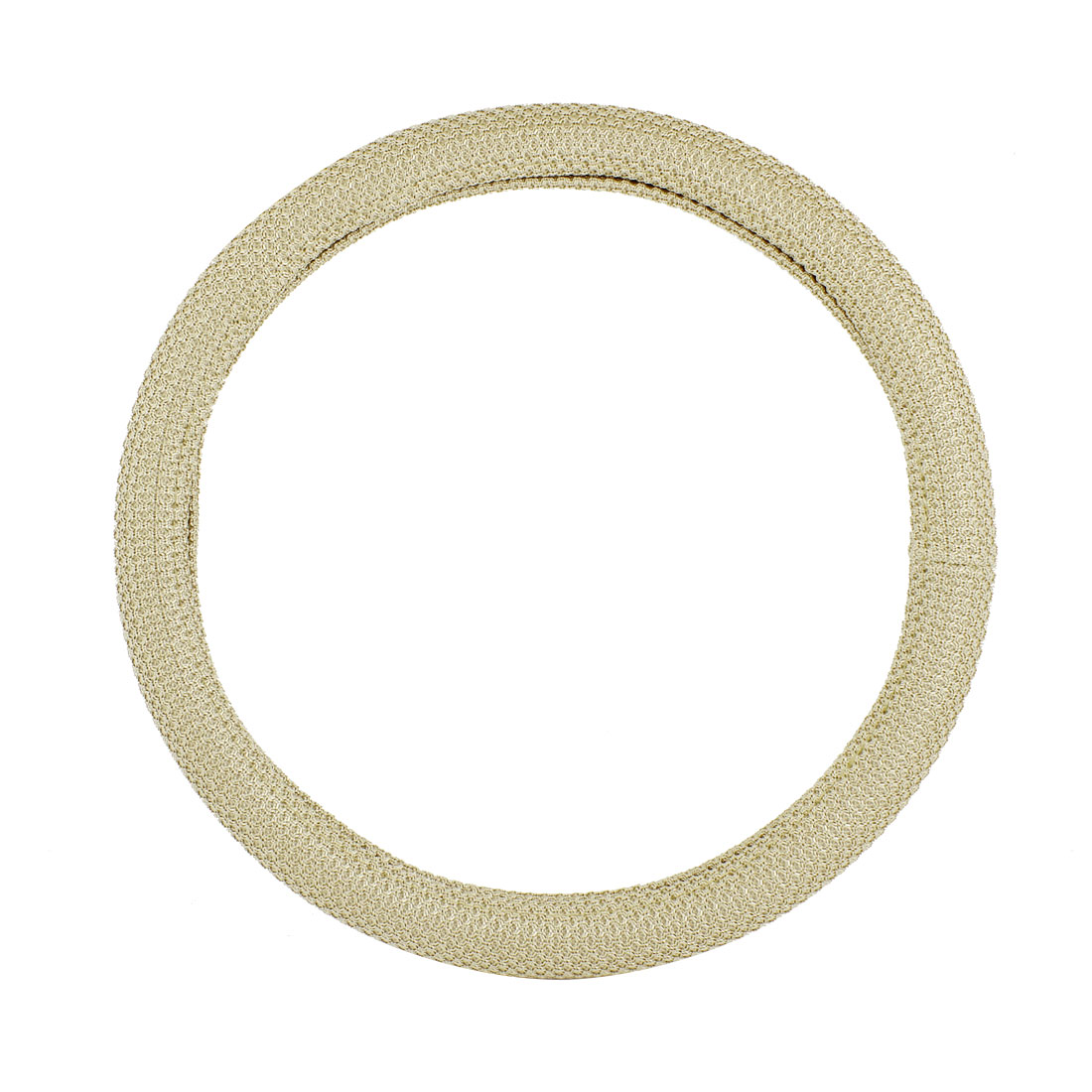 "38cm 15"" Dia Beige Nylon Coated Steering Wheel Cover Protector for Car"