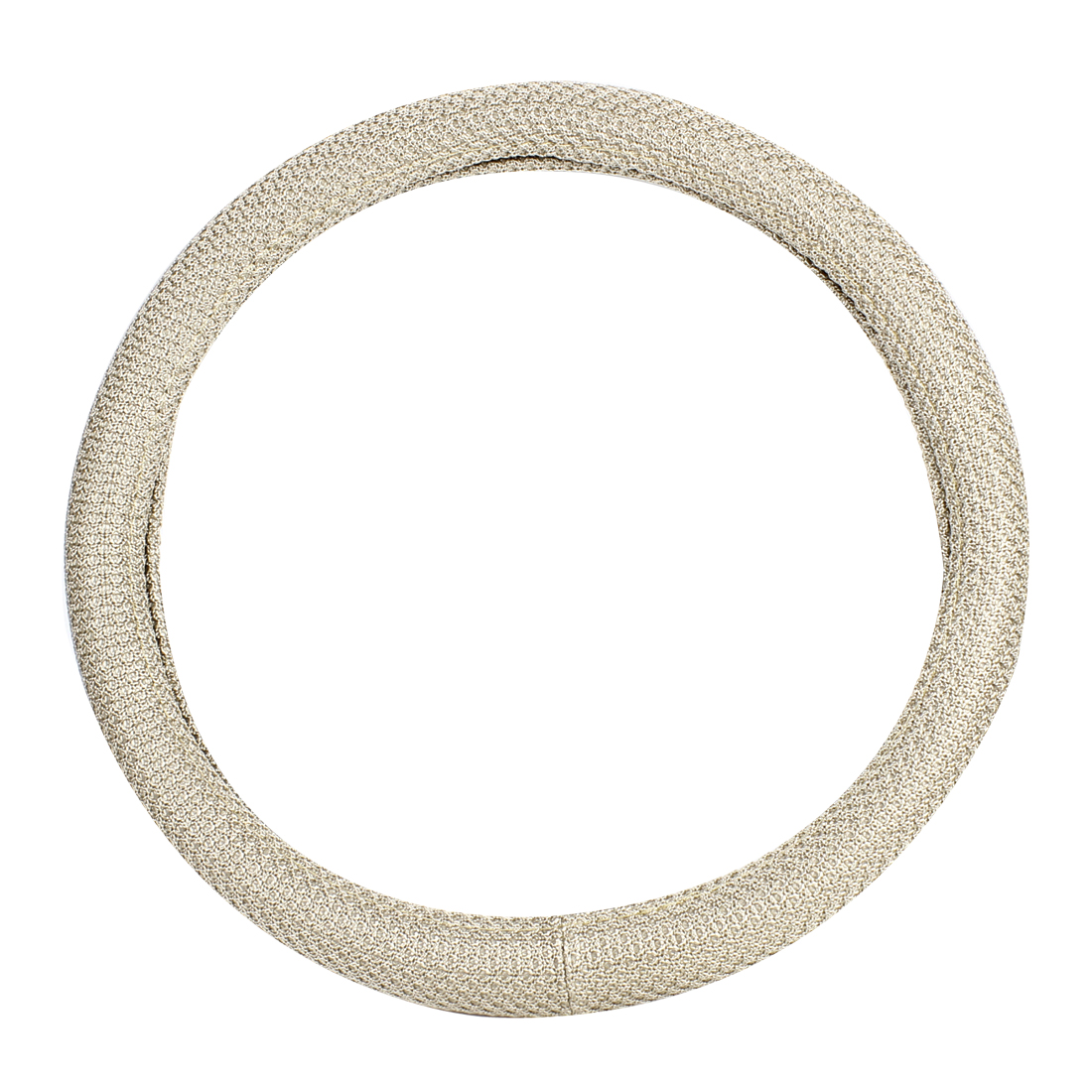 38cm Dia Beige Knitted Design Steering Wheel Cover Protector for Car