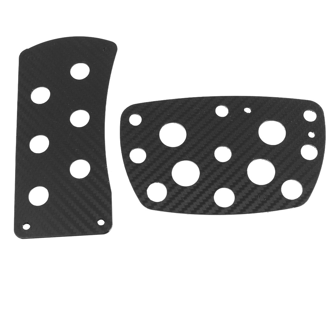 2 in 1 Black Carbon Fiber Printed Metal Automotive Pedal Pad Cover