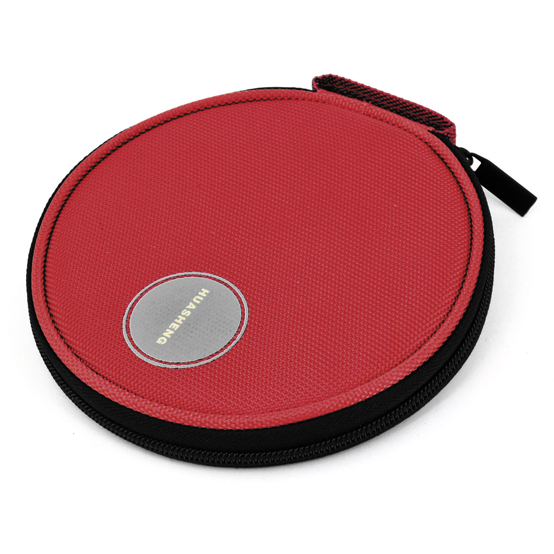 Red Nylon Zippered 20 Capacity CD VCD DVD Blu-Ray Sleeve Bag Holder