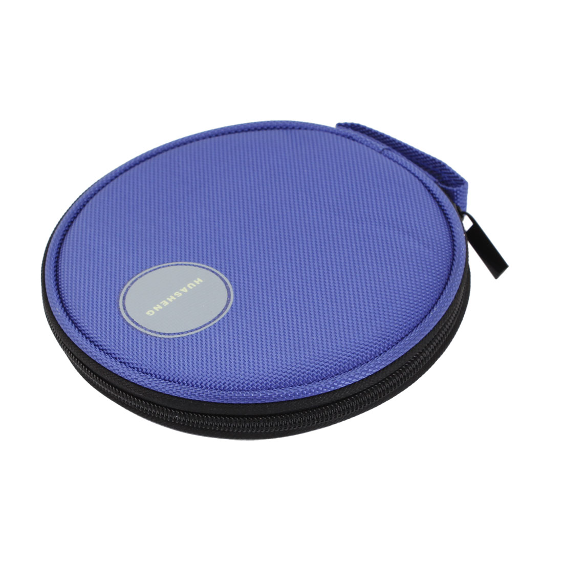 Royal Blue Nylon Zipper Closure 20 Capacity CD VCD Blu-Ray Sleeve Bag Holder