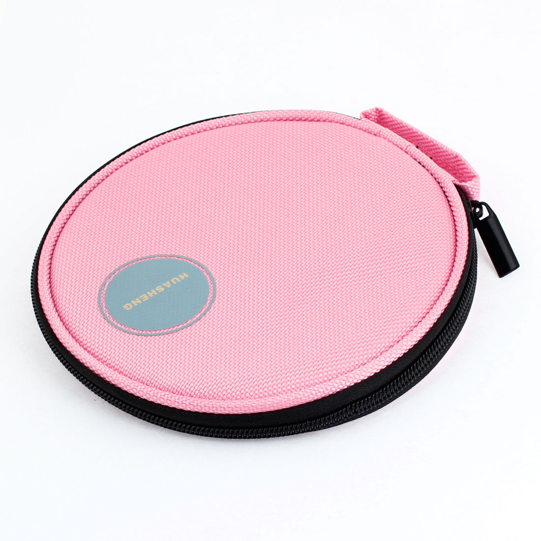 Pink Nylon 20 Capacity CD VCD DVD Disc Storage Bag Organizer for Car
