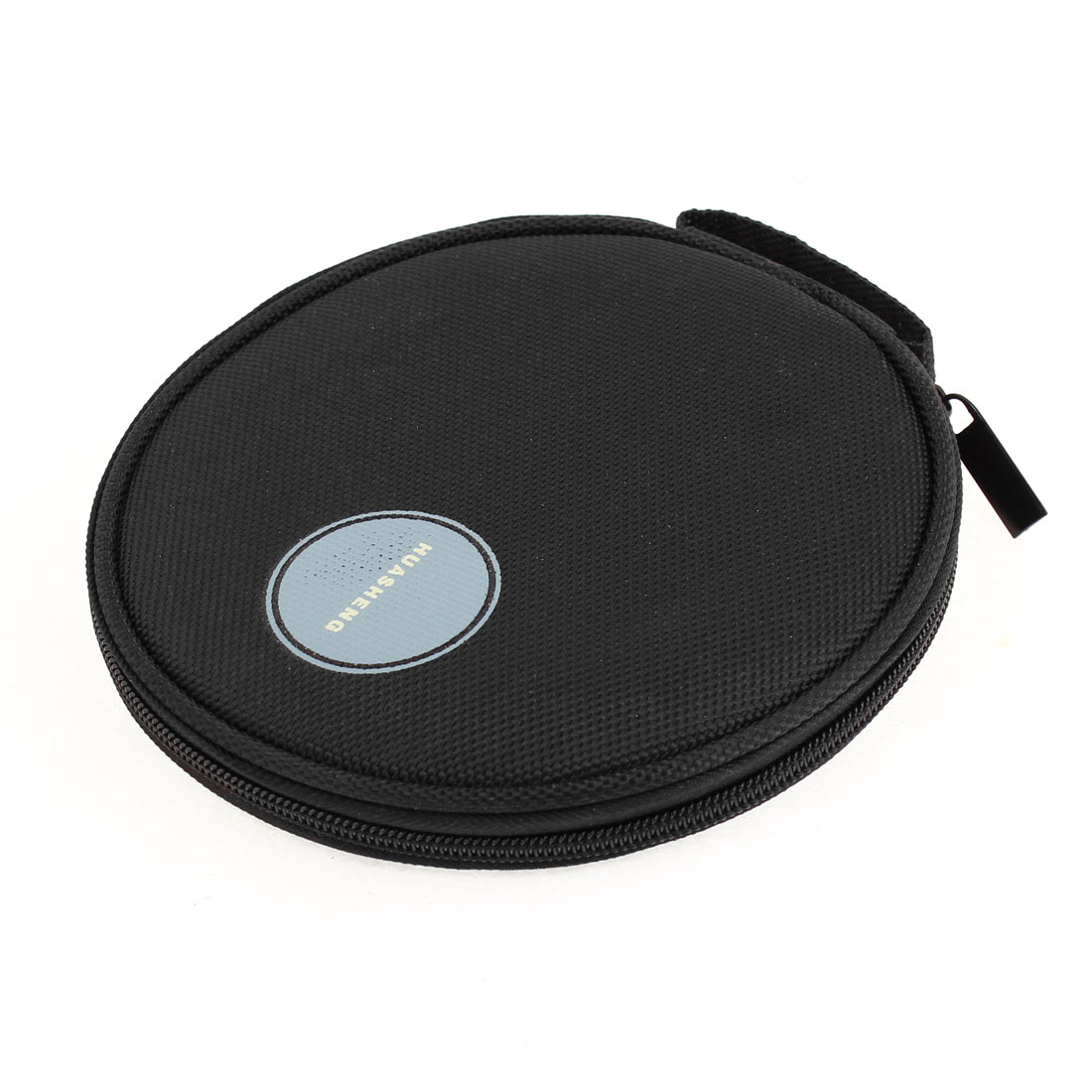 Family Car Round Shaped 20 Pieces CD VCD Disc Zip up Holder Bag Black