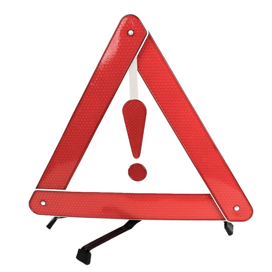 Block Road Black Red Metal Braket Safety Warning Reflection Triangle