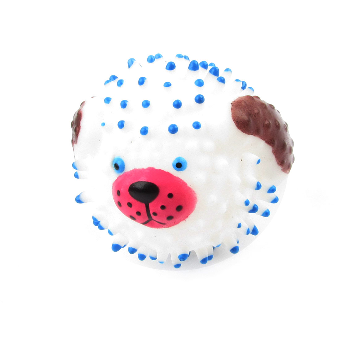 Artificial Hedgehog Design Squeaky Chew Ball Toy White Blue for Pet Dog Puppy