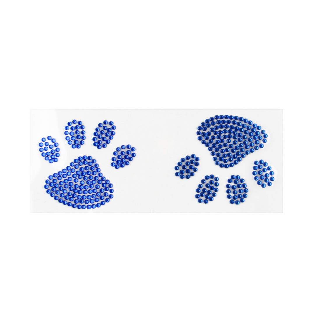 Blue Bling Rhinestone Accent Footprint Auto Car Vehicle Decal Sticker