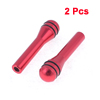 2 Pieces Burgundy 4mm Inner Diameter Interior Door Lock Cover Caps for Car Auto