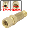 Gold Tone HF-2 Male to Female Thread Flashback Arrestor Acetylene Gas Valve