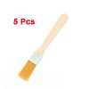 Nylon Bristle Wooden Handle Oil Acrylic Paint Brushes Painting Tool 5pcs