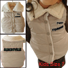 Children Stylish Convertible Collar Button Front Khaki Padded Vest 7