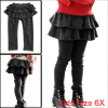Fashion Girls High Waist Stylish Pants Dark Gray 6X