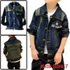Boy Chic Single-Breasted Front Long-Sleeved Dark Blue Spring Denim Jacket 7