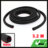 3.2 Meters Black Rubber D Type Window Door Air Sealed Seal Strip for Car