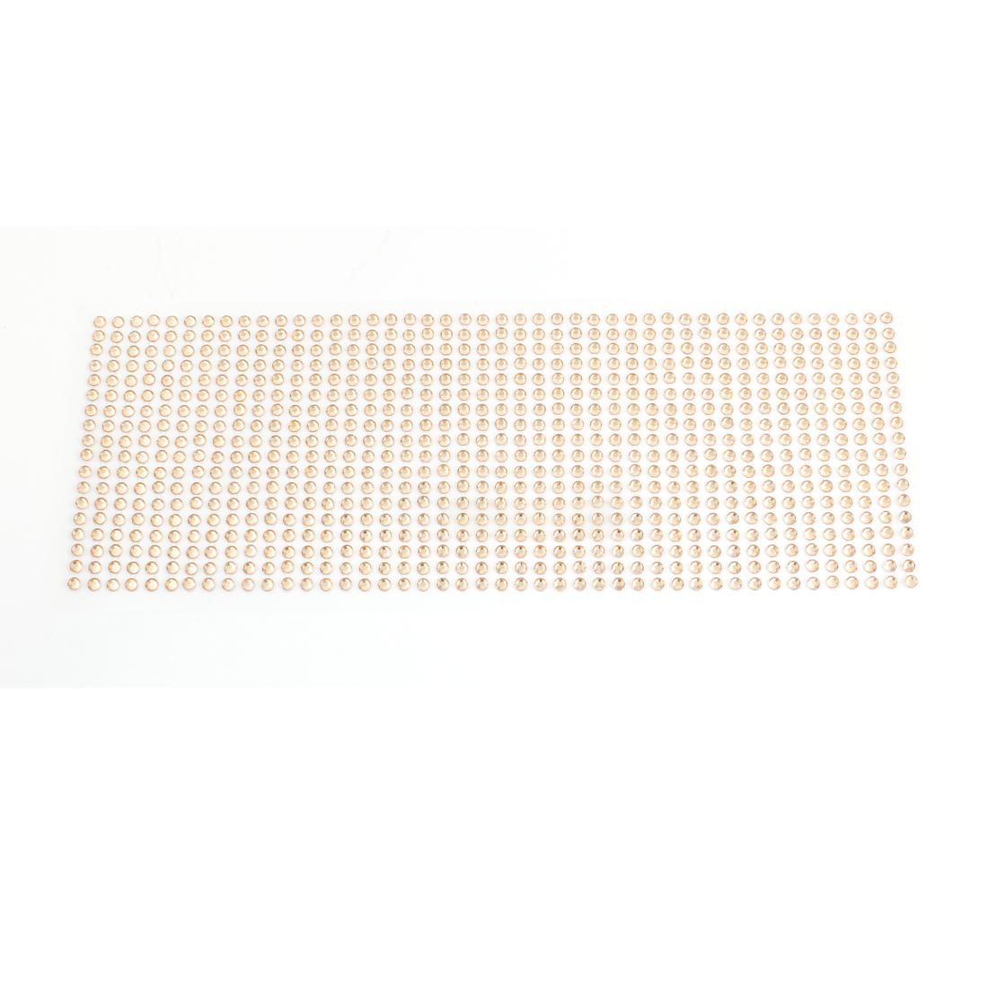 Car Interior Decor Self Adhesive Back Plastic Crystals Linked Sticker Beige