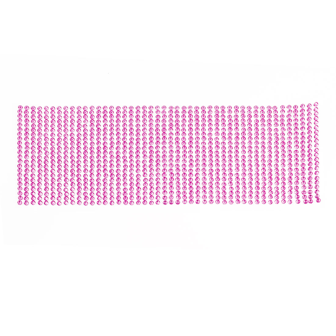 25.5cm x 9cm Pink Glittery Crystals Connected Sticker Sheet for Vehicle Car