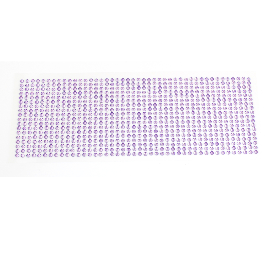 Car Interior Decor Self Adhesive Back Plastic Crystals Linked Sticker Purple