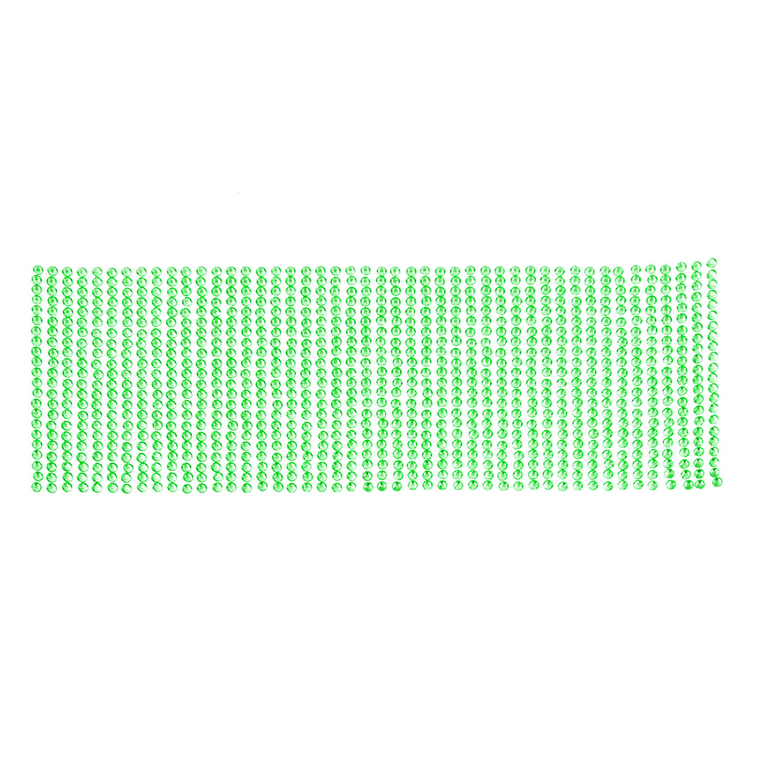25.5cm x 9cm Green Glittery Crystals Connected Sticker Sheet for Vehicle Car