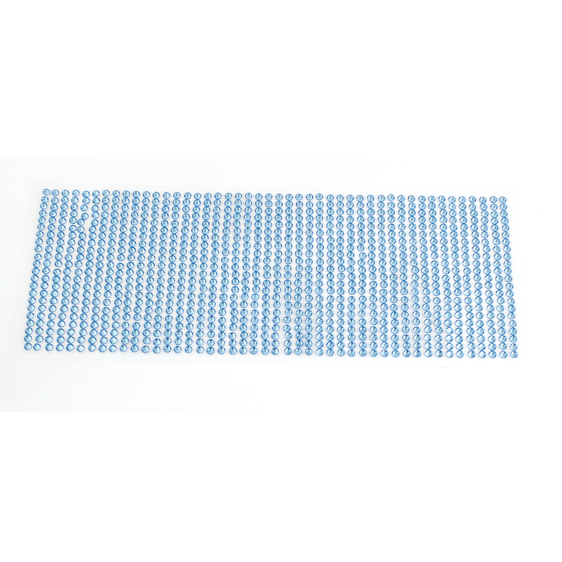 Auto Car Blue Faux Faceted Crystals Connecting Adhesive Paster Badge Sticker