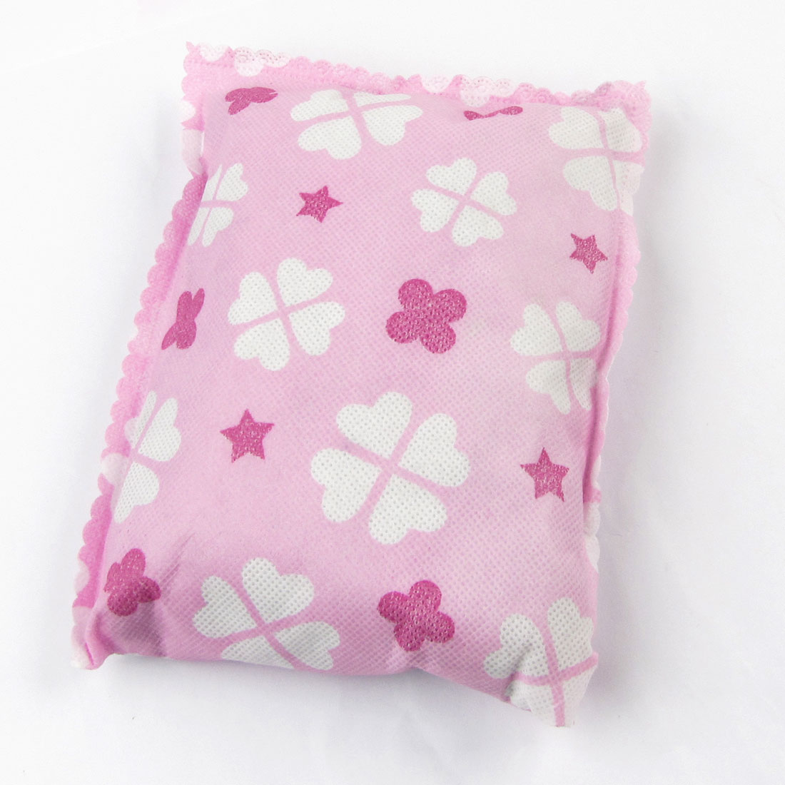Pink White Flowers Print Odor Absorber Air Deodorizer Freshener for Auto