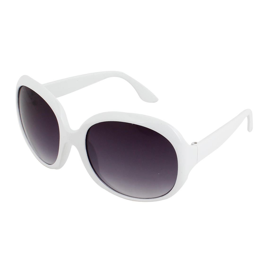 White Plastic Width Temple Full Rim Leisure Protective Sunglasses for Men Women