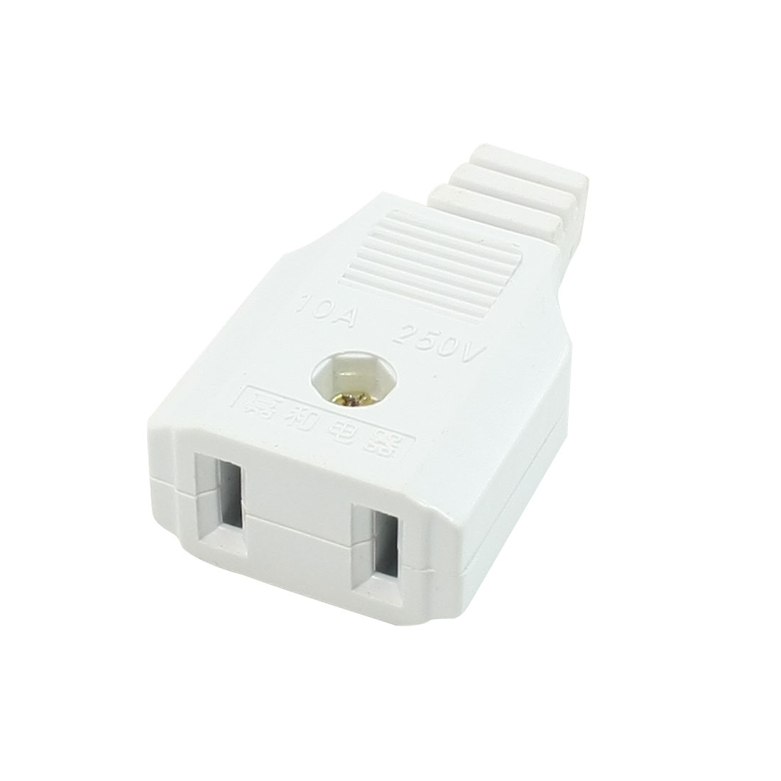 US Plug Plastic Housing 6x4.5mm Wire Hole Socket 250V 10A