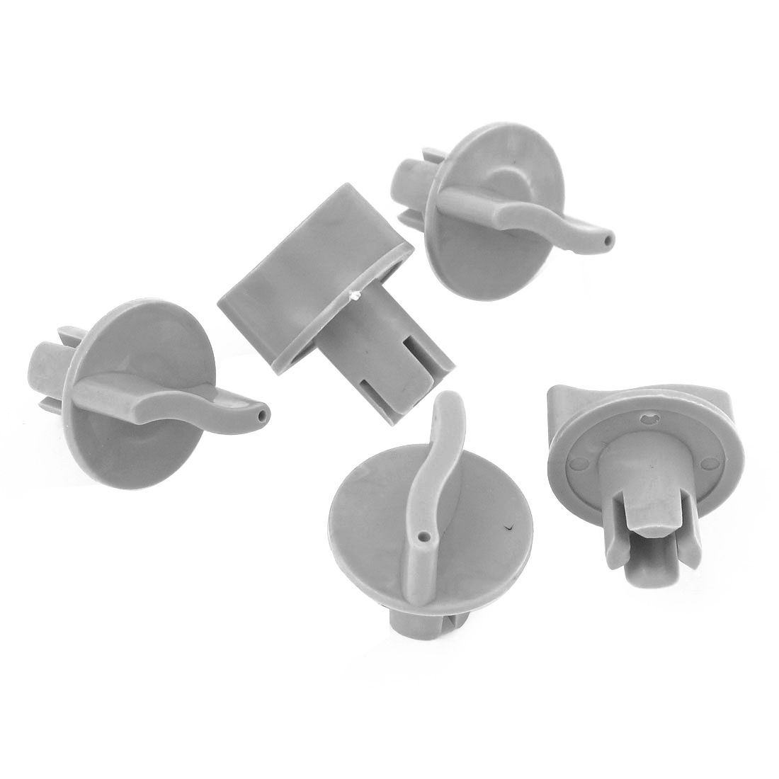 5 Pcs Gray Plastic Easily Install Control Knobs Gray for Heater Climate Fan