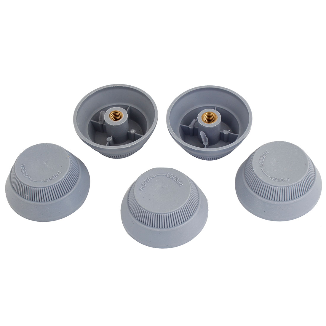 5 Pcs Electric Fan Cutter Screw Female 51mm Height Thread Gray Plastic Nuts