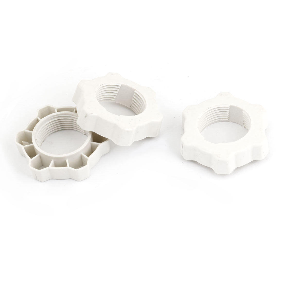 Off White Plastic 31mm Thread Dia Fastening Screw Nut Fan Guard Fasteners 3 Pcs