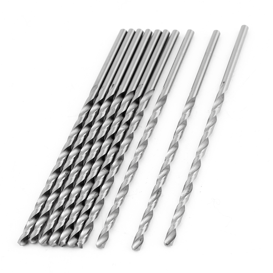10PCS Split Point Straight Shank Fully Ground Spiral Twist Drill Bits 3.0mm Dia