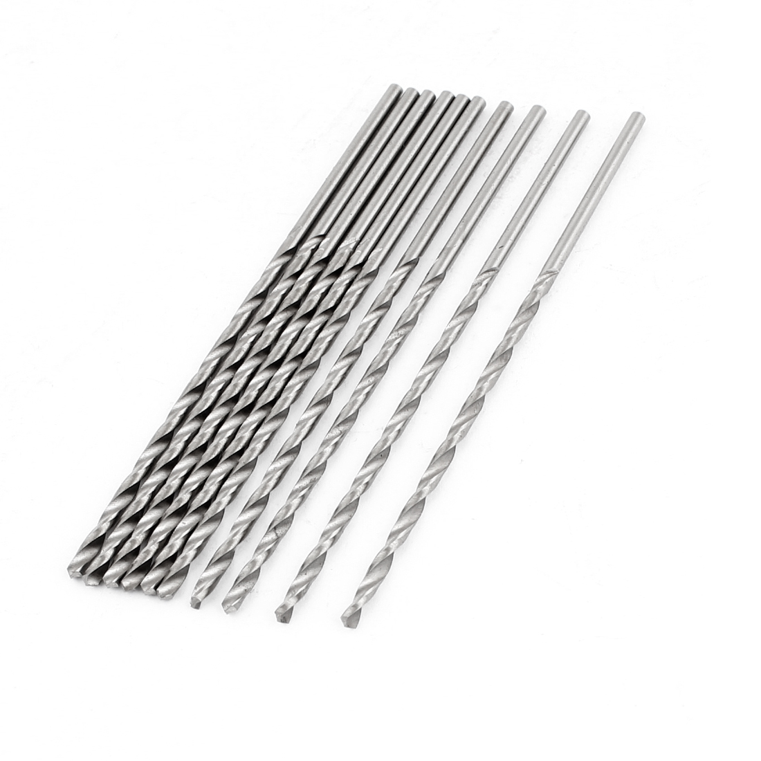 10pcs Straight Shaft 2.4mm High Speed Steel Twist Drilling Hole Iron Drill Bits