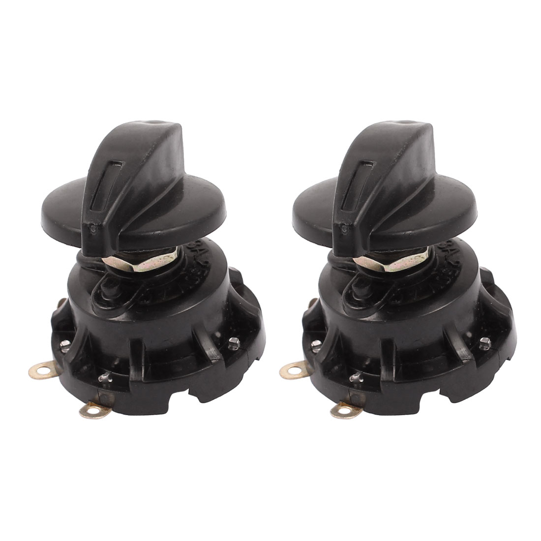 2 Pcs AC 250V 3A SPST Speed Control Switch for Electric Fan Black Plastic