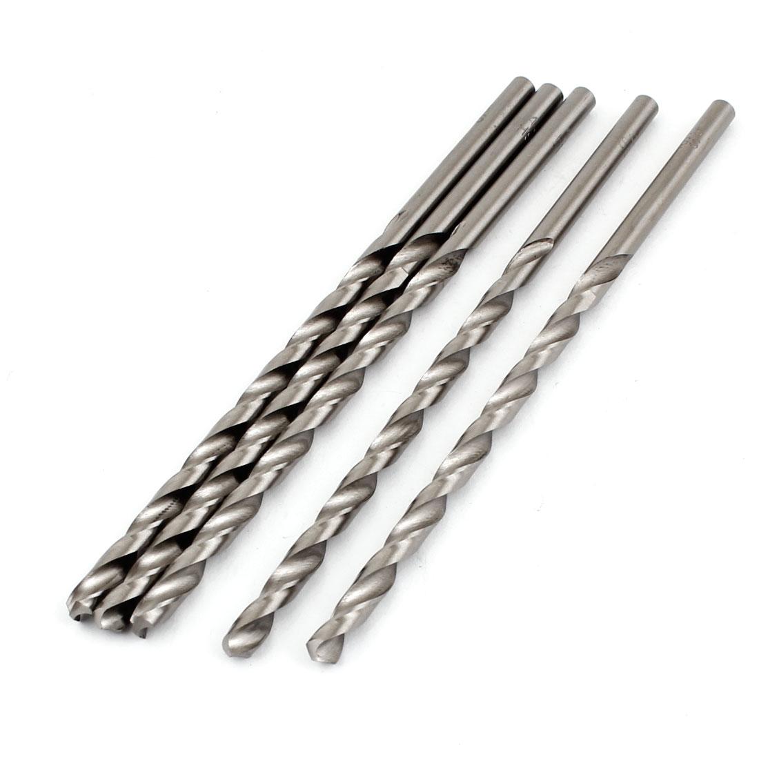 5 x Split Point Straight Shank Fully Ground Spiral Twist Drill Bits 4.5mmx126mm