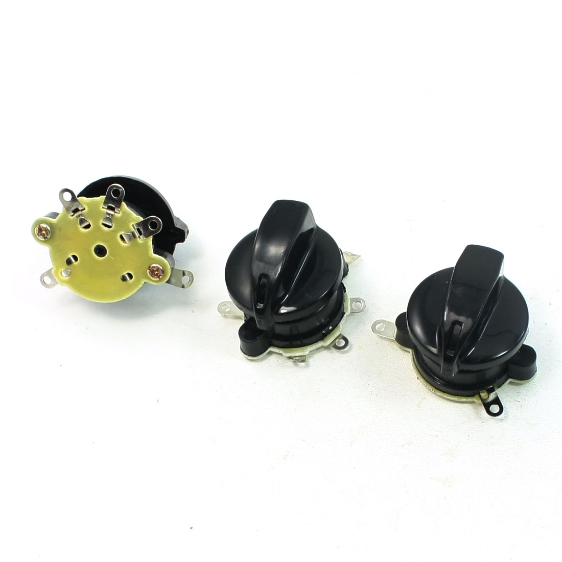 Plastic Housing 4P SPST Speed Control Switch 3 Pcs for Electric Fan