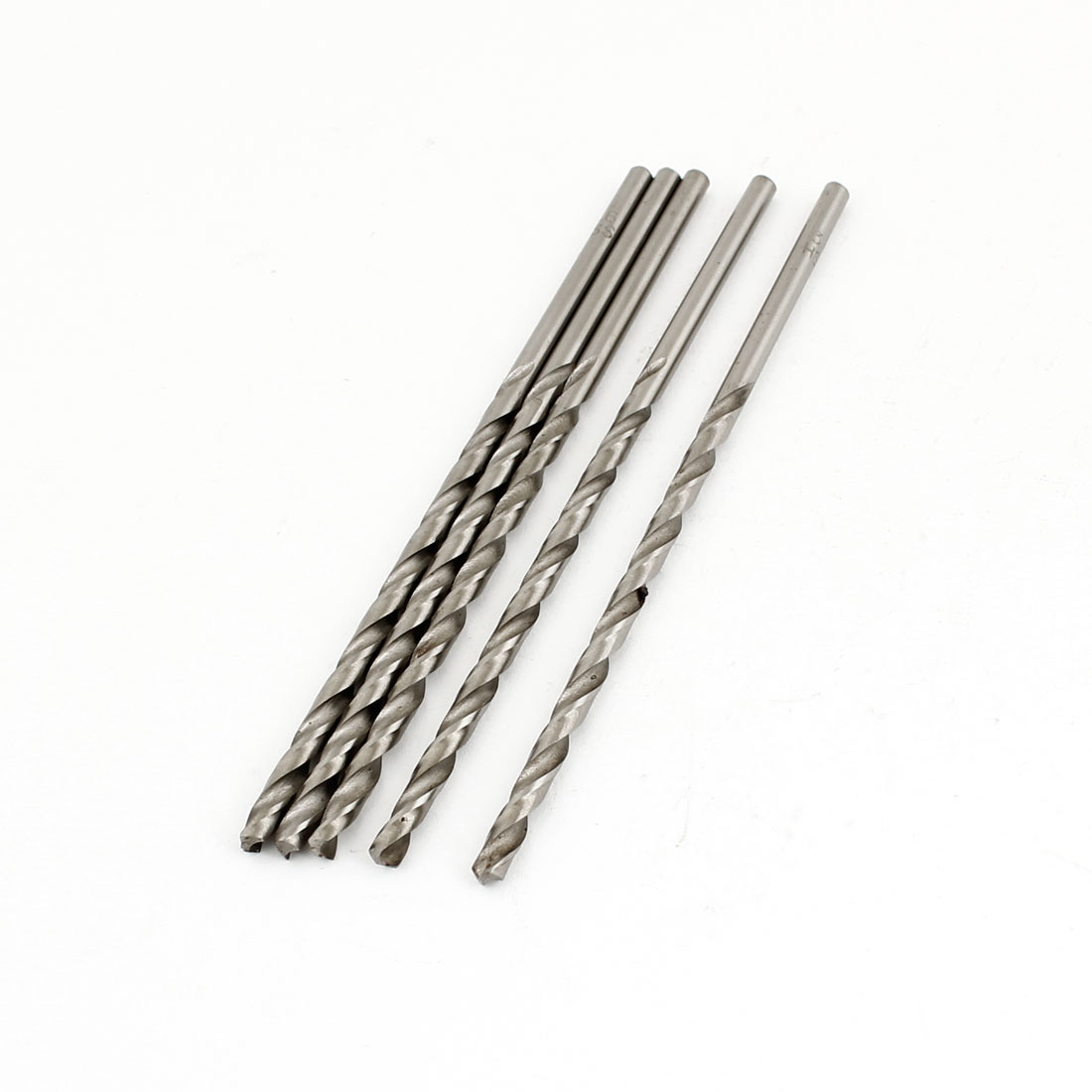 5PCS Split Point Straight Shank Fully Ground Spiral Twist Drill Bits 4.4mm Dia
