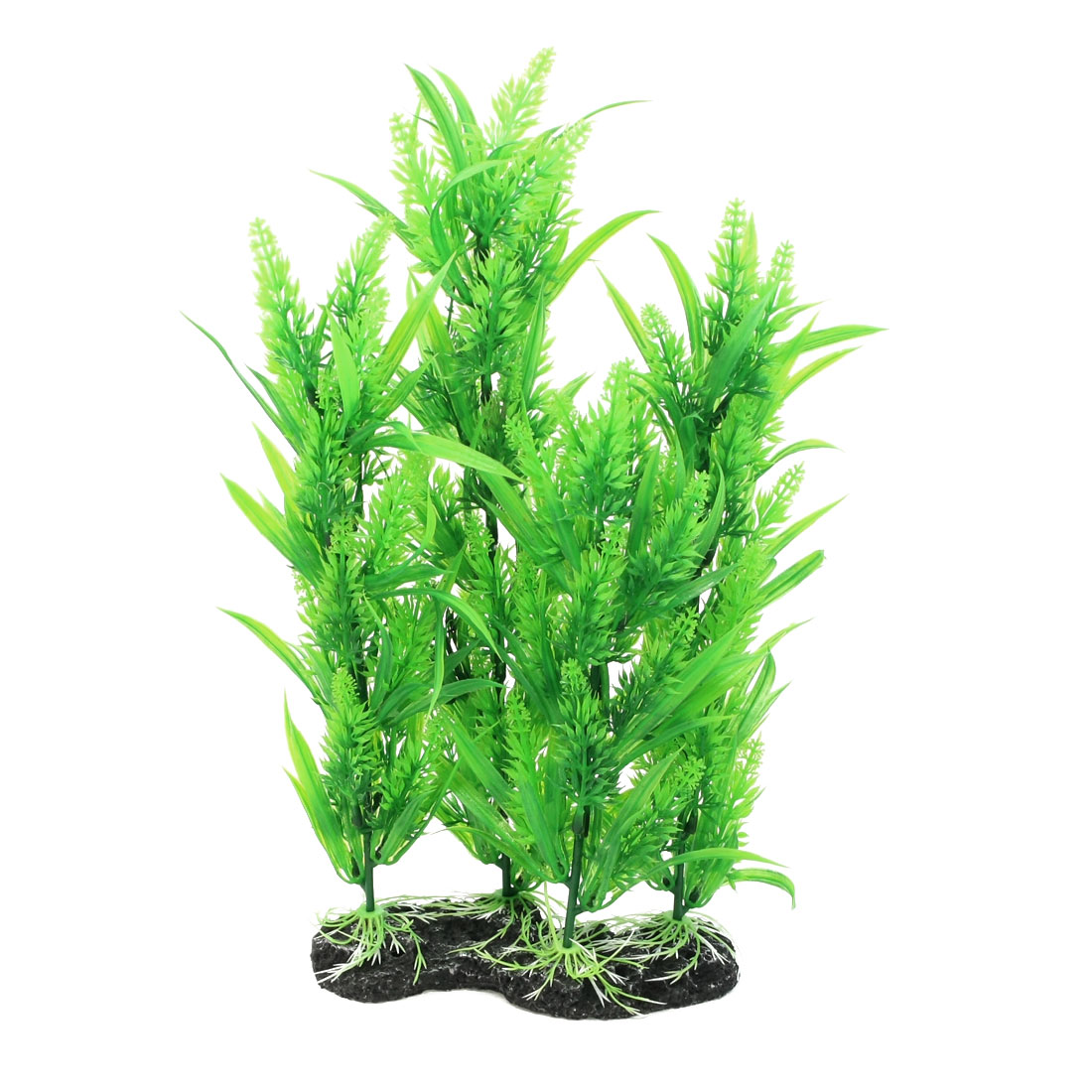 "15.4"" High Fish Tank Emulational Green Plastic Underwater Plant Decor"