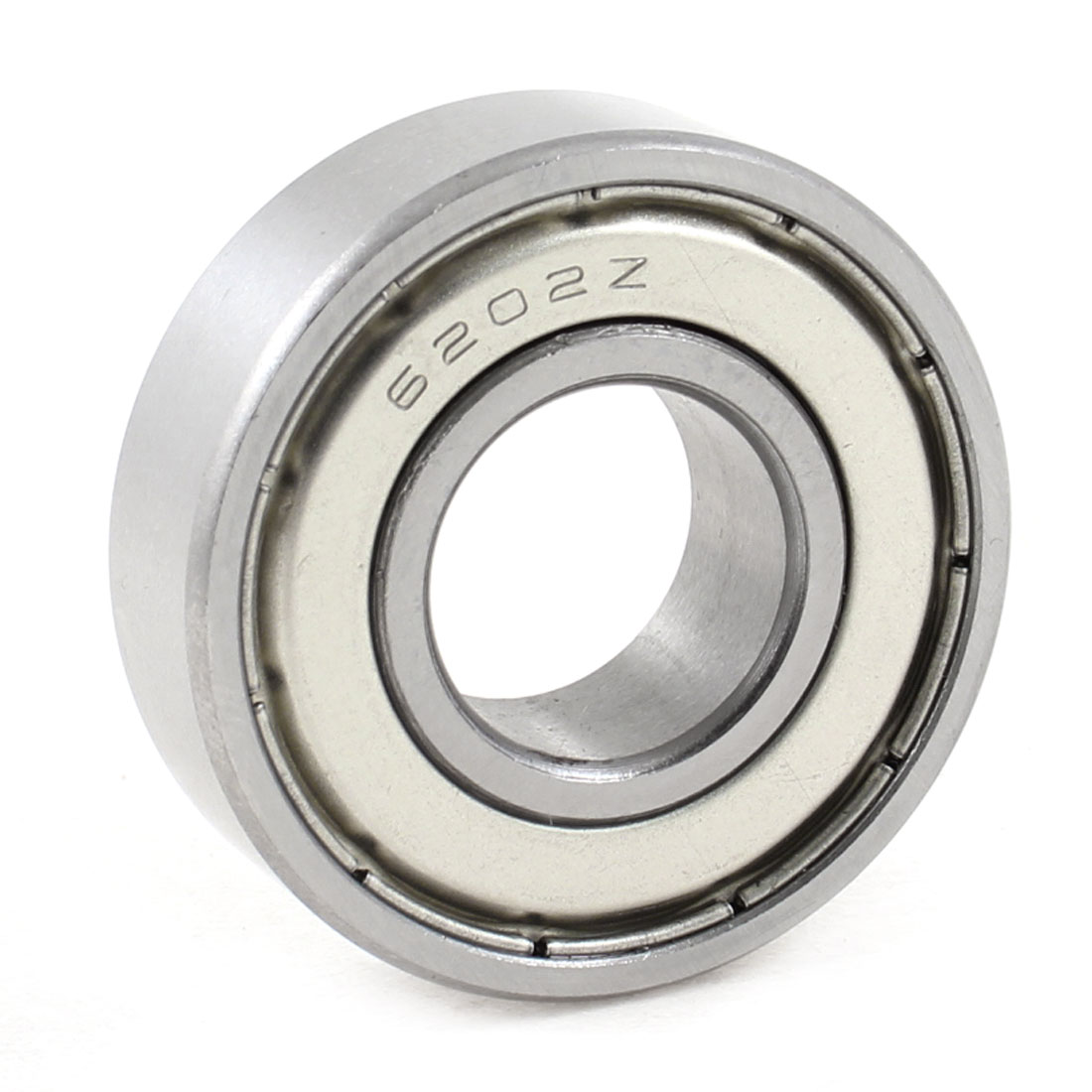 "Skateboard 0.60"" Inner Dia Single Row Metal Deep Groove Ball Bearing 6202Z"