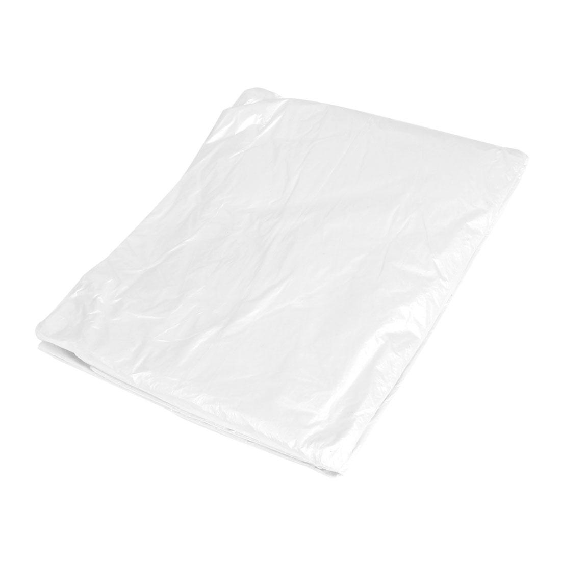 Household Square Disposable Plastic Tablecloth White 200cm x 200cm 20 Pcs