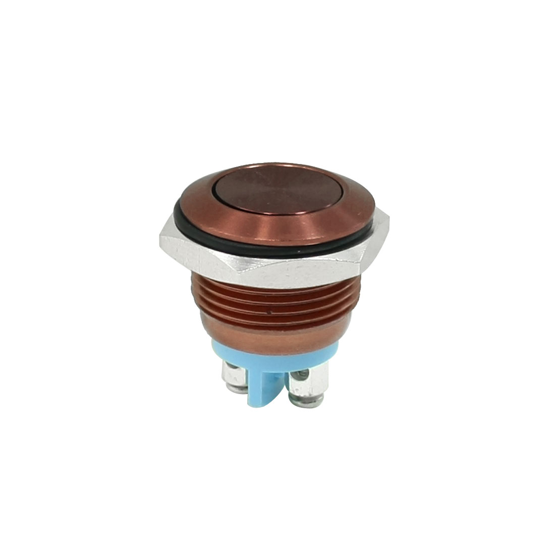 AC 250V 3A Coffee Color Flat Top Anti-explosion SPST N/O Push Button Switch