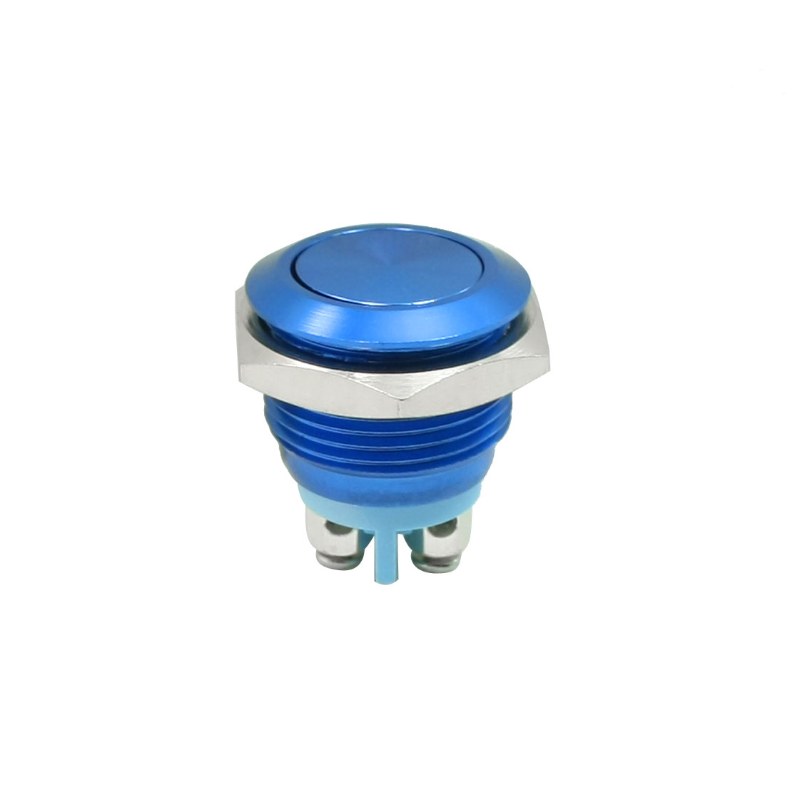 Panel Mounted SPST NO Momentary Push Button Switch Blue AC250V 3A