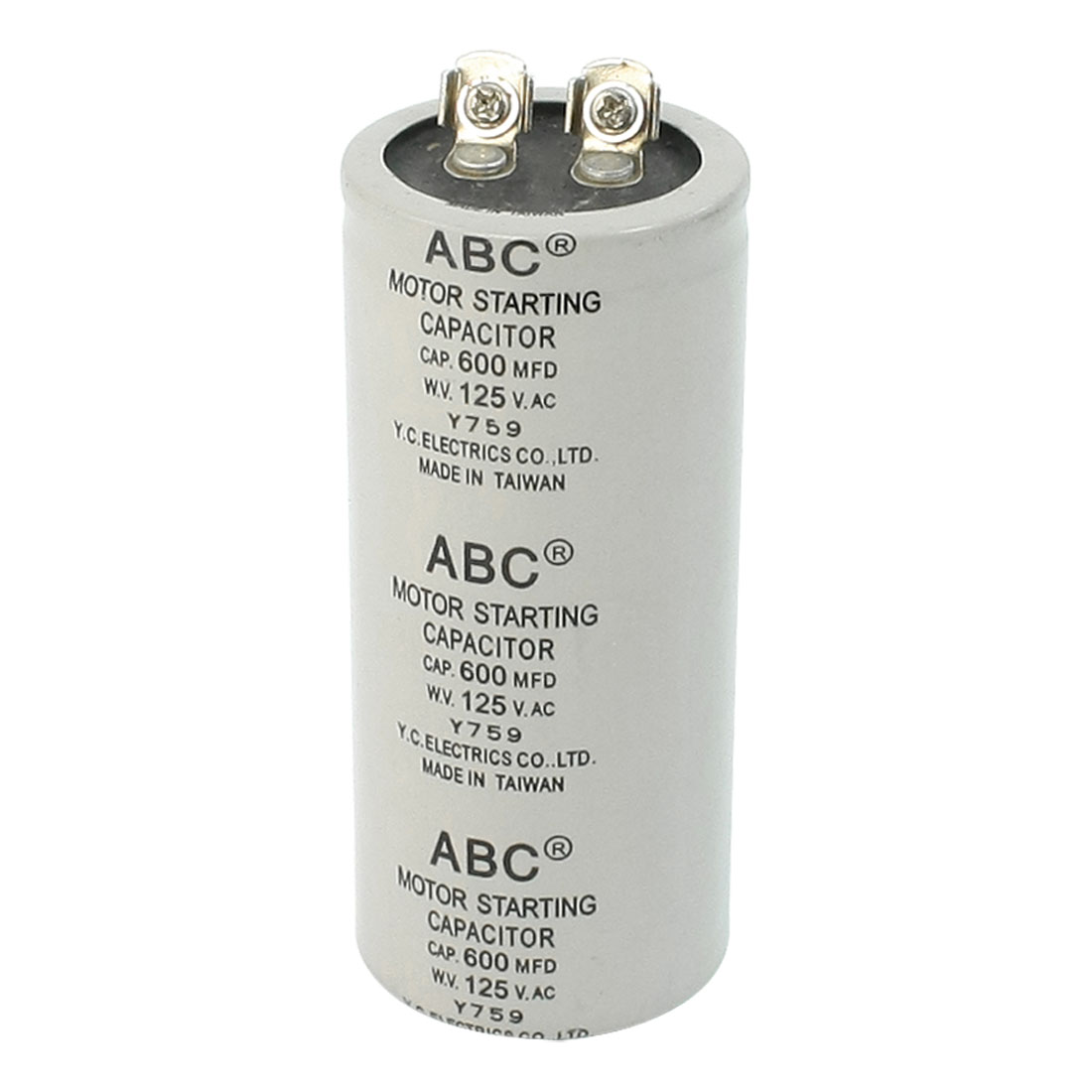 600MFD Capacity 125VAC Metallized Polypropylene Film Motor Capacitor ABC