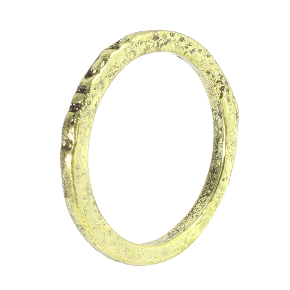 Ladies Bronze Tone Metal Luck Letter Carved Finger Ring Decoration Gift