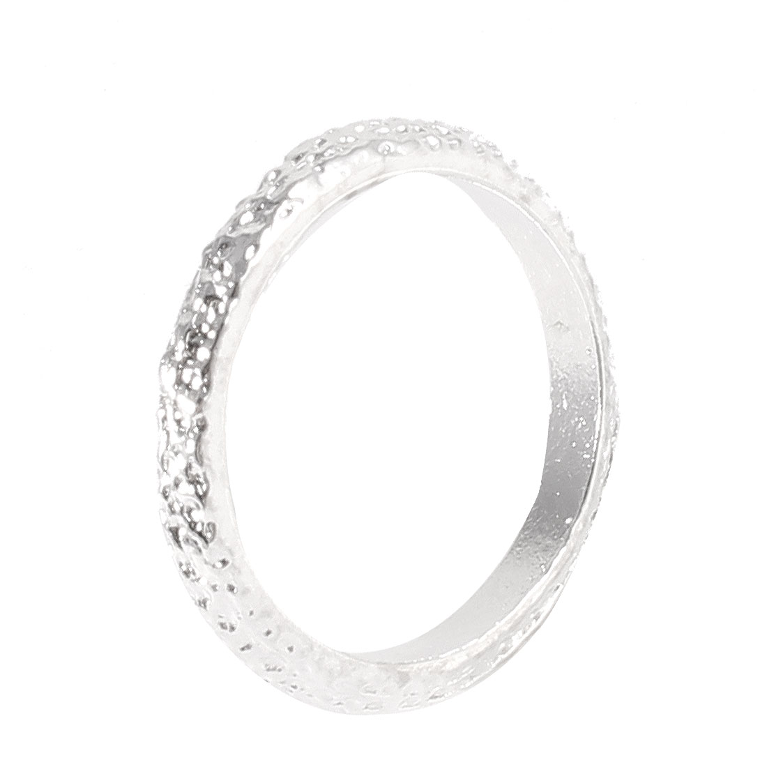 Silver Tone Metal Glitter Finger Tail Ring Hoop Decoration for Ladies